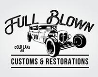 Full Blown Customs & Restorations - Logo Design