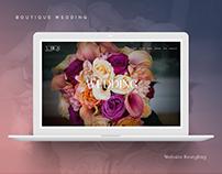 Boutique Wedding - Website Restyling