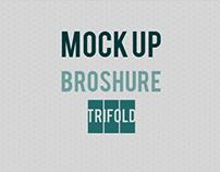 Mock up.Broshure.Trifold