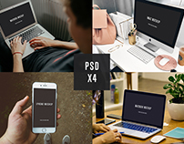 4 PSD Apple Mockups