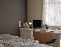CGI Bedroom wall color study in Lumion 8