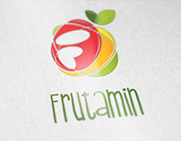 Frutamin logo design