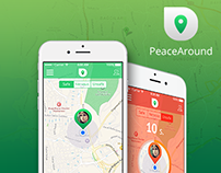 PeaceAround - iOS UI/UX Design