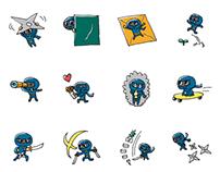 Ninja LINE stickers