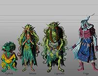 Akki's Coven - Character Design