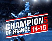 PSG - Champions de France 2014-2015