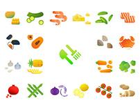 Food Stuffs Sticker for iMessage