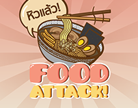 #Linecreatorsticker : Food Attack!