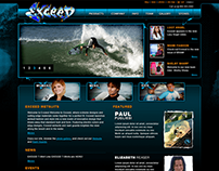 Exceed Wetsuits Website Design and Illustration