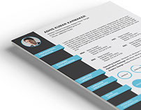 Free PSD Resume Template with Formal Design
