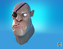 Sagat Cartoon Face