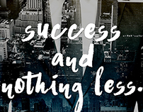 Success and nothing less Poster