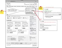 Mindmaps and wireframes for a cleaning provider