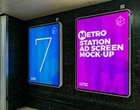 Metro Station Ad Screen Mock-Ups 3