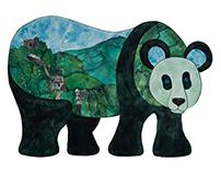 Panda Bear - Great Wall of China | Landscape Menagerie