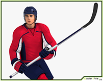 3D Model: Hockey Player HQ 001
