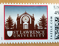 Postage Stamp for University Communications Mailers