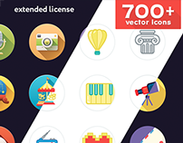 700 vector icons. Extended license.