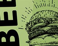 Beer N' Burger Night Poster