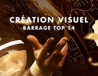 Création visuel - barrage TOP 14