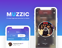 MUZZIC Application UXD Concept