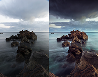 Lanzarote landscape Retouch + before/after