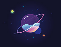 glass planet illustration