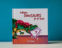 "Book with my illustrations ""When Dinosaurs go to bed"""