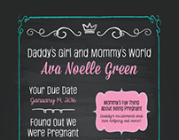 Ava Chalkboard Baby Shower Invitation
