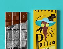 Portia Chocolate branding
