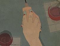 Virtual dating  (editorial illustration)