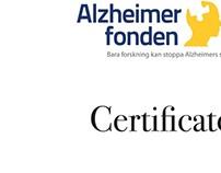 Certificate Alzheimerfonden