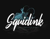 Squidink font & graphics