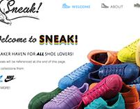 SNEAK! Website