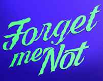 "Lettering ""Forget me not"""