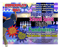 Bowling Alley Flyer for Fundraisers
