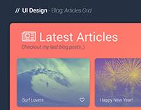 UI Design - Blog: Articles Grid