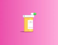 Flat design_pill bottles