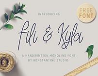 FREE FONT Fili & Kyla - Monoline handwriting script