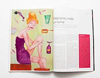 Ilustraciones revista Entrecasa Marzo