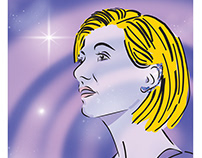 Drawing of Jodie Whittaker as The Doctor in Doctor Who