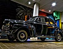 HDR Black Ford Classic Car
