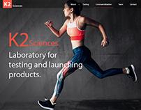 K2 Laboratory Website Mockup