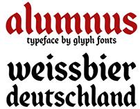 Alumnus - typeface by Glyph Fonts