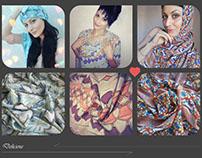 Art scarves Olga Lerman design