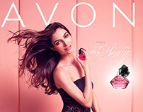 Avon Lingerie and fragrance ad campaign