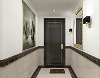Qatar, Doha Hotel Hallway option 4 Approved Design