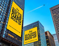 Free Outdoor Building Advertising Billboard Mock-up PSD