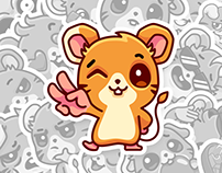 FRANKIE. Vkontakte stickers set – 2014