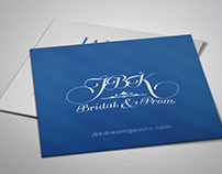 JBK Bridal & Prob Business Card Redesign